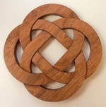 Celtic Knot Wood Trivet