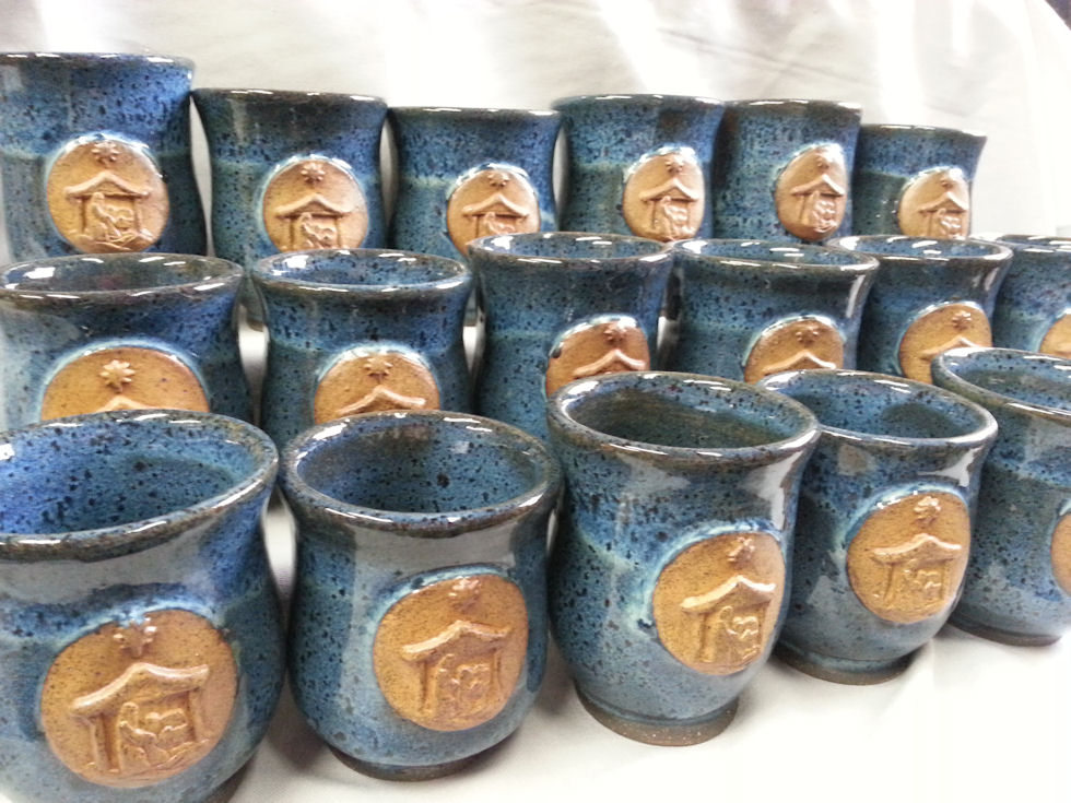 Some examples of our nativity gluhwein mugs