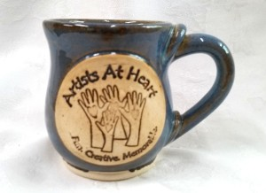 Custom Logo hand made stoneware mug with handle