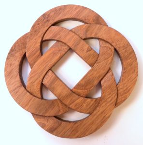 Celtic Eternity Knot wood trivet