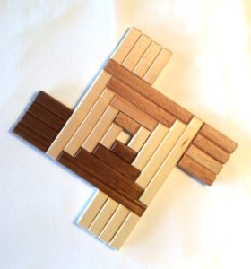 Brigid's Cross Wood Trivet