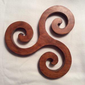 Triskele Wood Trivet